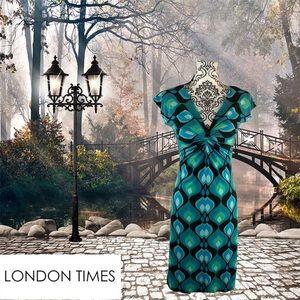 London times sleeveless slip-on dress